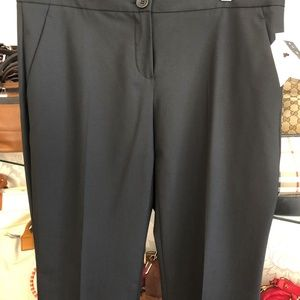 THEORY Black Straight Leg Dress Pants